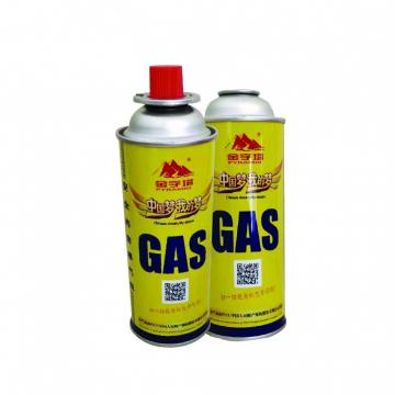 Portable gas stove for barbecue 190g butane gas cartridge with filled gas