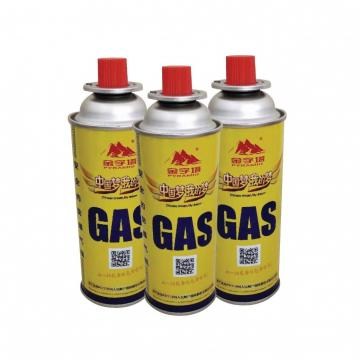 400ml portable camping butane gas canister manufacturing for barbecue in the wild