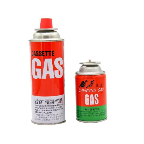 Portable butane gas canister for outdoor and butane canister lighter gas refill 250ml